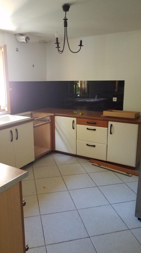 rénovation de cuisine par l'Éclat de bois - avant les travaux